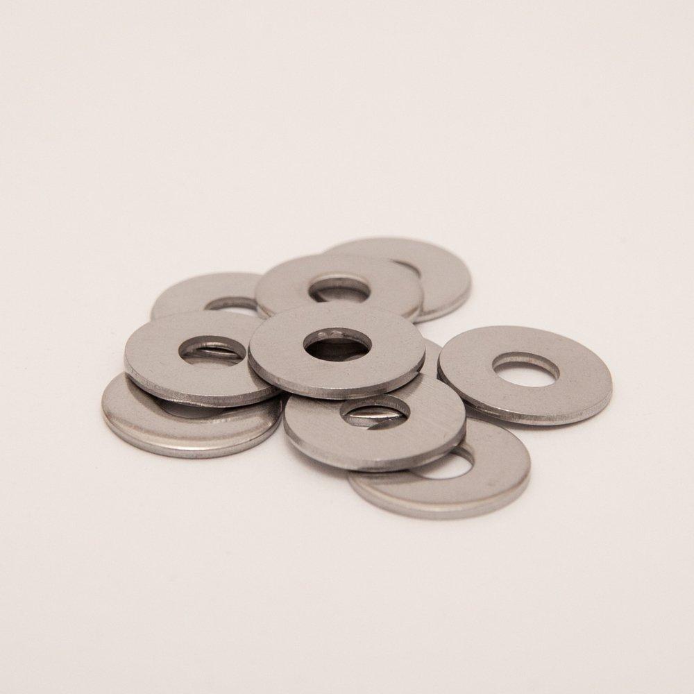 DERING, rondella grande NIRO, DIN 9021, in acciaio inox A2, antiruggine