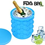 #7: Ice Cube Maker Genie - Ice Bucket The Revolutionary Space Saving Silicone Ice Cube Trays Molds for Chilling Burbon Whiskey, Cocktail, Beverages and More