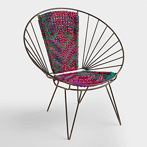 Metal Woven Chindi Chair - Eclectic Chair was Handmade in Jodhpur, India, a City Notorious for its Highly Skilled artisans Using Chindi. Made in India