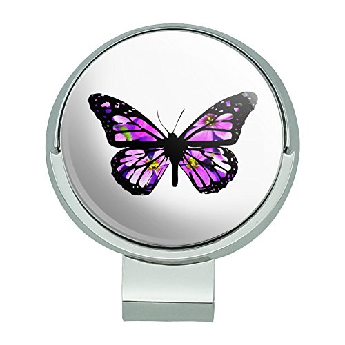 - GRAPHICS & MORE Butterfly with Flowers Golf Hat Clip with Magnetic Ball Marker