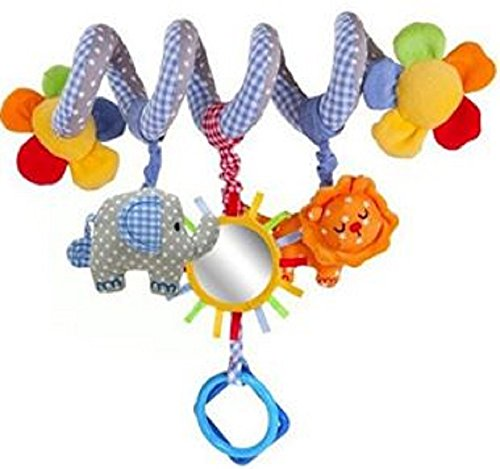 Generic Baby Elephant and Lion Polka Dot Rattle Stroller Car Seat ()