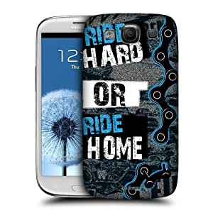 AIYAYA Samsung Case Designs Ride Hard or Ride Home Live BMX Protective Snap-on Hard Back Case Cover for Samsung Galaxy S3 III I9300