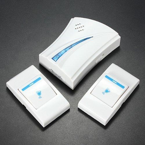 Water & Wood 36 Music Tune Melody 2 Remote Button + 1 Wireless Doorbell Door Bell Receiver