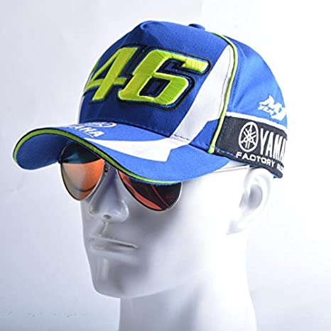 433493a8dbb Generic Blue   2017 Blue Rossi VR46 Baseball Cap MOTO GP YMH Motorcycle 3D  Embroidered Racing Hat Men Women Snapback Cap Sun Hats  Amazon.in  Sports