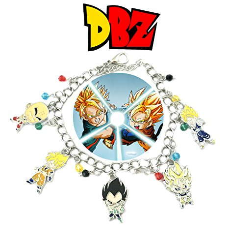 Dragon Ball Z 5 Logo Charm Lobster Clasp Bracelet In Gift Box from -