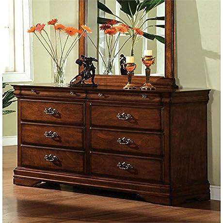 Furniture Of America Wade Antique Inspired Dresser In Dark Oak
