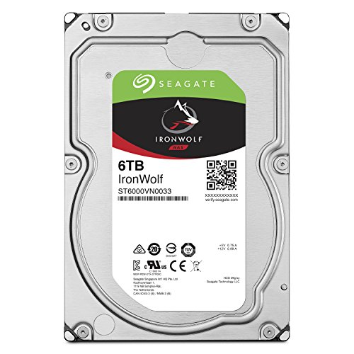 Seagate IronWolf NAS 7200RPM Internal SATA Hard Drive 6TB 6Gb/s 3.5-Inch (ST6000VN0033)