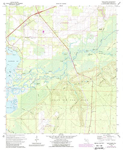 (YellowMaps Ward Basin FL topo map, 1:24000 Scale, 7.5 X 7.5 Minute, Historical, 1970, Updated 1987, 26.9 x 21.9 in -)