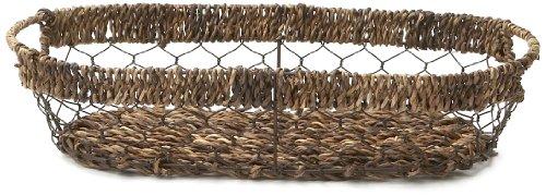 Woodard & Charles Abaca Oval Bread Tray, 16-Inch (Leaf Bread Basket)
