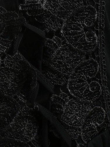 collo Lunghe Camicette Nero Wear T Breve Elegante Tops ABCone Casual Felpa Office Maniche Camicie Donna Pullover Shirt Work V Autunno wx8ZH7Cq