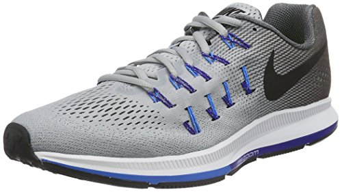 Nike Men's Air Zoom Pegasus 33 (W), Wolf Grey/Black-Dark Grey, 12.5 M US
