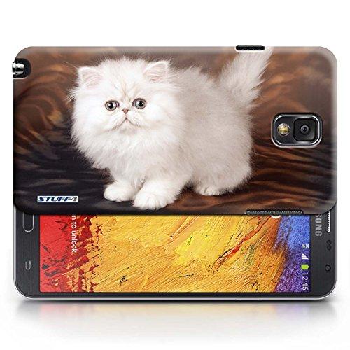 Coque en plastique pour Samsung Galaxy Note 3 Collection Chatons mignons - Blanc et moelleux