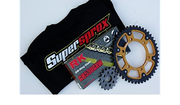 Amazon.com: Supersprox Chain and Sprocket Set for Kawasaki ...