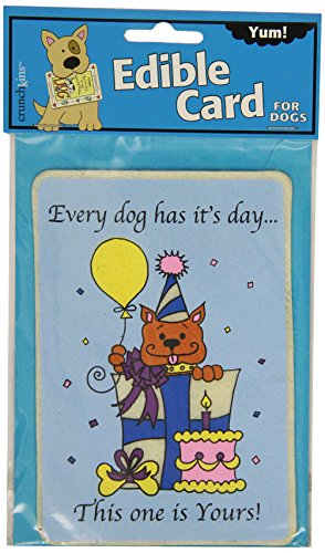 Crunchkins 1036 Edible Crunch Card, Every Dog Has It's Day (Edible Card)