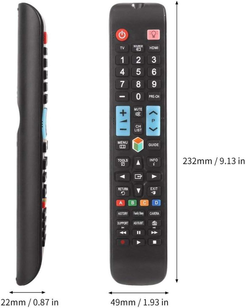Mando a Distancia Universal para Samsung Smart TV AA59-00638A Reemplazo de Accesorio de televisión con Botones de retroiluminación 3D Kaemma(Color:Black): Amazon.es: Electrónica