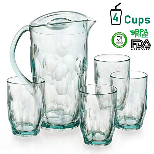 green glass water pitcher - 3