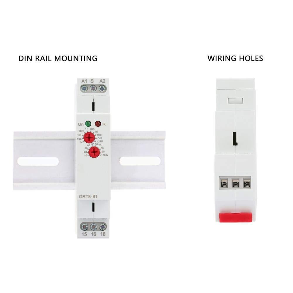 Montage sur rail DIN avec relais de temps montage sur rail DIN du relais de temporisation 220V GRT8-A1 mini-relais