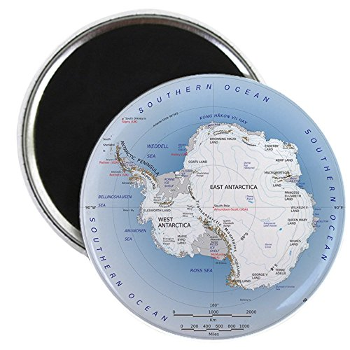 CafePress - Antarctica Map Magnet Magnets - 2.25