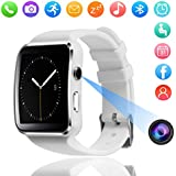 Bluetooth Smart Watch, DMDG Touch Screen Smartwatches with Camera Unlocked Smart Watches Cell Phone SIM Card Slot, Wrist Watch for Kids/Boys/Girls/Elder/Men/Women (White)