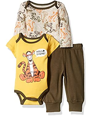 Disney Baby Boys' 3-Piece 2 Tigger Bodysuits with Pant Set