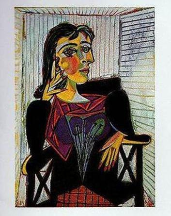Buyartforless Portrait of Dora Maar by Pablo Picasso 20x16 Museum Art Print Poster