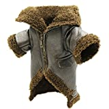 uxcell Tailup Authorized Pet Punk Biker Winter Jacket Small Dog Cat Zipper Coat Dark Olive S