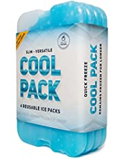 Ice Pack for Lunch Box - Freezer Packs - Original Cool Pack | Slim & Long-Lasting Ice Packs for your Lunch or Cooler Bag (Set of 4)