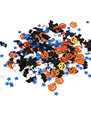 2 Packs Halloween Table Confetti, 30g Star Pumpkin Bat Witch Confetti Decorations for Home, Halloween, Parties, Holidays, Cards, Scrapbooks, Gift Bags, Decorations, Tables, DIY (Mixed Color)