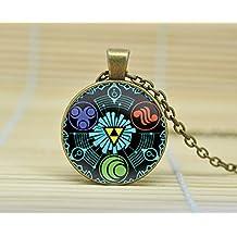 SunShine Day Legend Of Zelda Necklace Legend Of Zelda Triforce Jewelry Zelda Pendent Zelda Pendant Glass Cabochon Necklace A4043