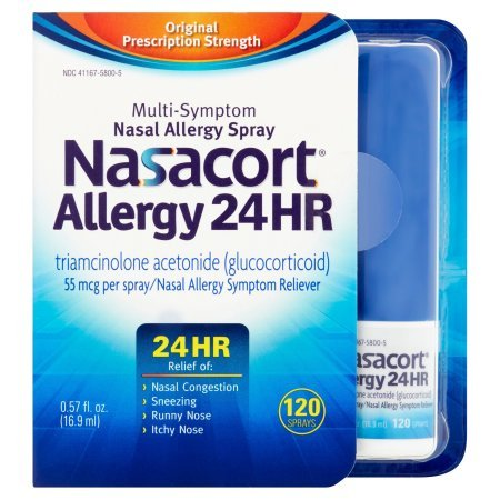 Nasacort Allergy 24 Hour 120 Sprays, 0.57 Fluid Ounce (Pack of 3) xTc&L by Nasacort