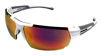 25d7bf5ebbf Amazon.com   Rawlings 26 Mirrored Sunglasses White Red   Sports ...