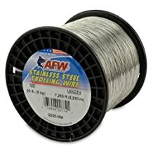 American Fishing Wire T304 Stainless Steel Trolling Wire, 20-Pound/7250-Feet