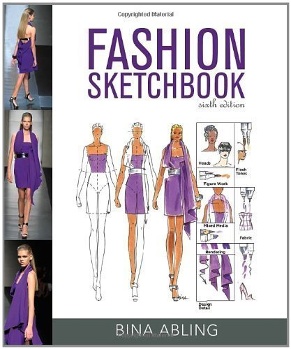 Fashion Sketchbook 6th edition by Abling, Bina (2012) Spiral-bound (Fashion Sketchbook By Bina Abling 6th Edition)