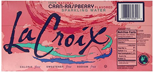 Large Product Image of La Croix Sparkling Water, Cran-Raspberry, 12 oz Can (Pack of 12)