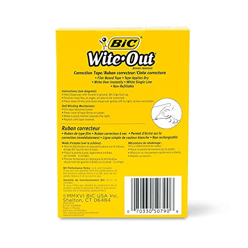 BIC Wite-Out Brand EZ Correct Correction Tape, White, 27-Count (Original, 27) by BIC (Image #4)
