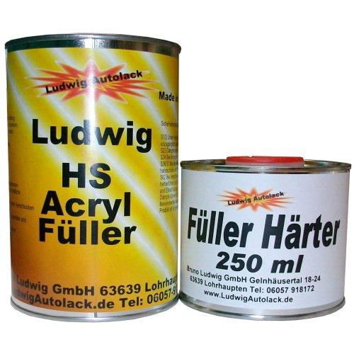 1,25 kg Acryl Füller grau Grundierung für Autolack Lackierer