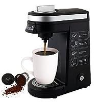 Aicok K-Cup Kaffeemaschine Kompakte Einzeltassen Kaffeemaschine