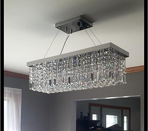 Crystal Chandelier Rectangle: Dst Modern Luxury Rain Drop Rectangle Clear K9 Crystal