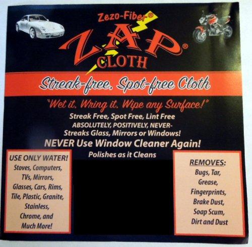 Zap Cloth - Streak Free, Spot Free - 3 Cloths