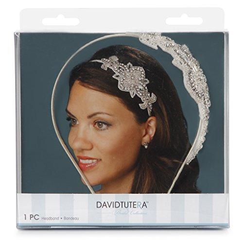 Darice David Tutera Applique Embellished Headband, Cream