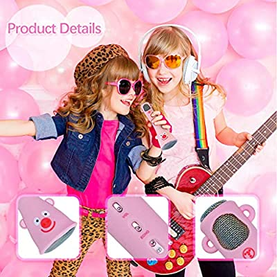 Thinktoo Wireless Karaoke Microphone for Kids Speaker Birthday Gifts for Girls Boys for Baby, Kiddie, Kids, Adult, Infant, Toddlers Sports Outdoor Play Toys: Arts, Crafts & Sewing