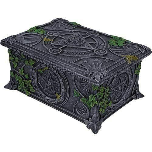 Wiccan Pentagram Tarot Box 6.75 inch Long B2 by inilofigurine (Image #1)