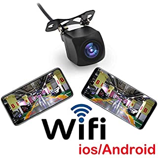 Sale Fumei HD 720p WiFi Camera Wireless Backup Camera for Car with Smart APP Intelligent Video Recording/Sharing Forward-Looking Camera Compatible with Android and iPhone/iPad(2nd Generation)