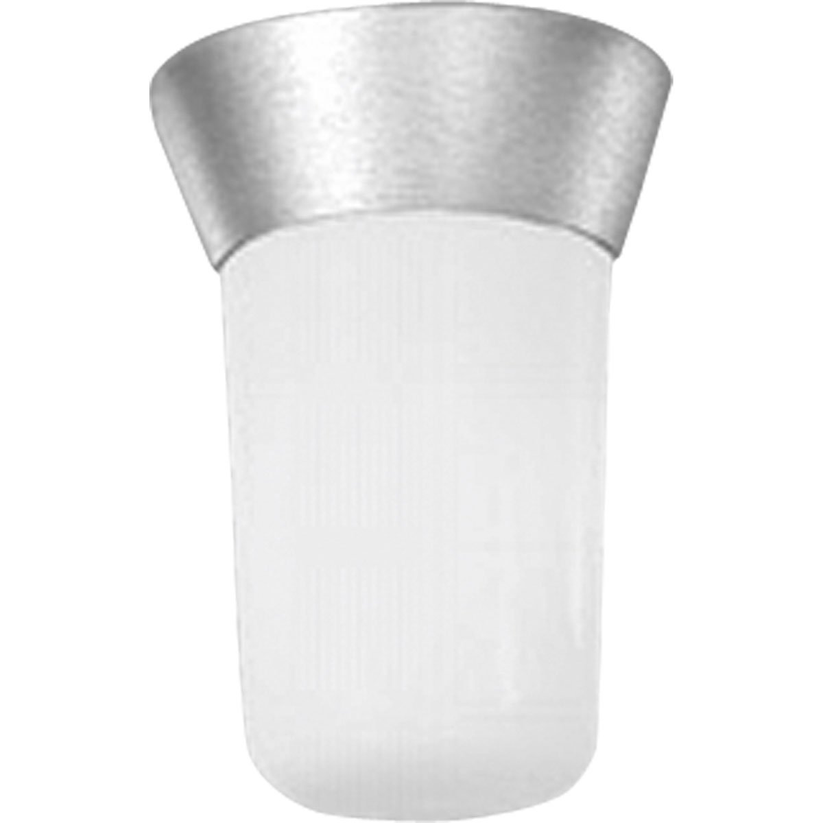 Progress Lighting P5510-16 Ceiling Fixture with Threaded Opal Glass Shades That Screw Onto Fitter with Vapor-Proof Gaskets and Porcelain Sockets, Satin Aluminum
