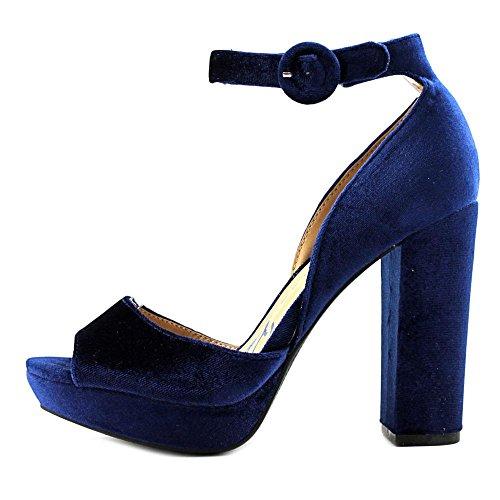 Amerikaanse Rag Dames Reeta Open Teen Enkelband Platform Pumps Juwelen Blauw