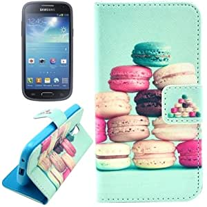 Macarons Deserts Pattern Leather Case with Holder & Card Slots & Wallet for Motorola Moto G