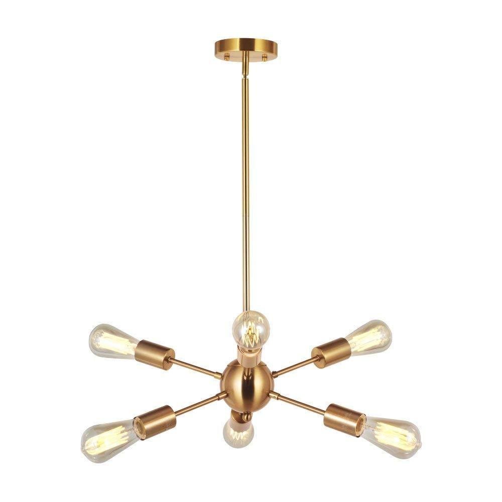 ポストモダンアイアンシャンデリア、ledゴールドマルチヘッド照明装飾シャンデリア天井ランプノルディックリビングルームダイニングテーブルペンダントライト B07TKGWD7D
