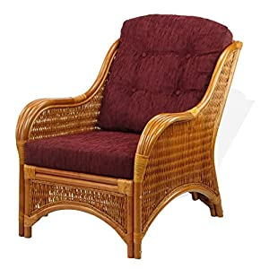 Rattan Wicker Furniture Set of 2 Dark Brown Cushions for Living Lounge Chair