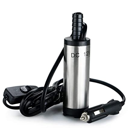 flintronic Bomba de Agua y Aceite, 12V Bompa Sumergible de Acero Inoxidable Bomba de Combustible Diesel Transferencia de Líquido Aceite Agua por Auto, ...