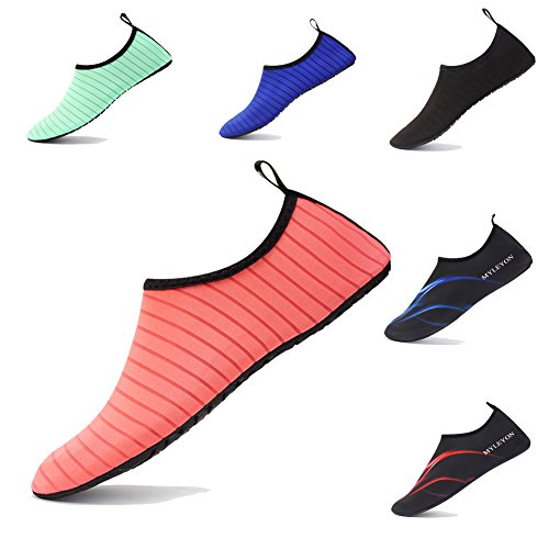 Beach Shoes and Breathable Water Red for Quick Lightweight Flexible Man Dry xcyliveus Shoes Women dwqPIdU